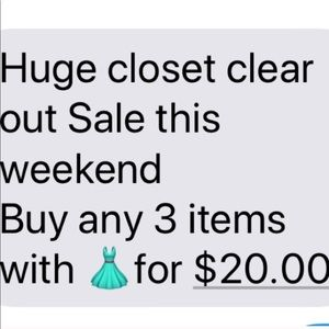 Bundle any 3 👗 items for $20